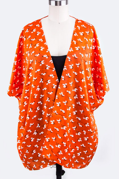 Puppy Print Silky Cardigans