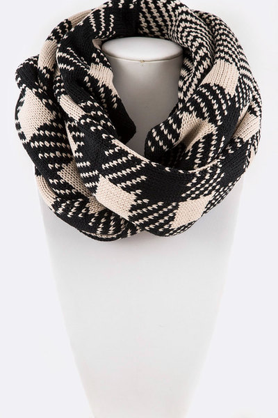 Mix Plaid Infinity Scarf