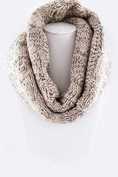 Floral Lace Lined Infinity Scarf