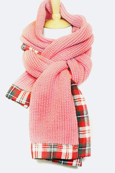 Plaid Edge Blanket Scarf