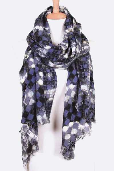 Abstract Mosaic Pattern Fashion Scarf