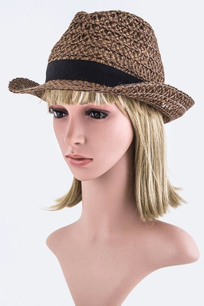 Loose Weaved Fashion Fedora Hat