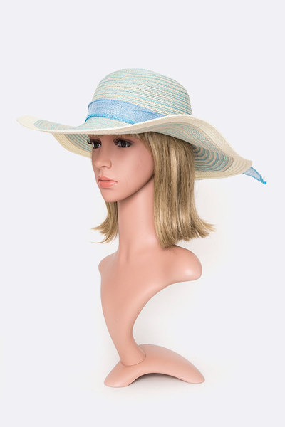 2 Tone Straw Floppy Hat
