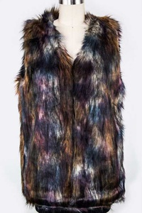Mix Color Fur Vest