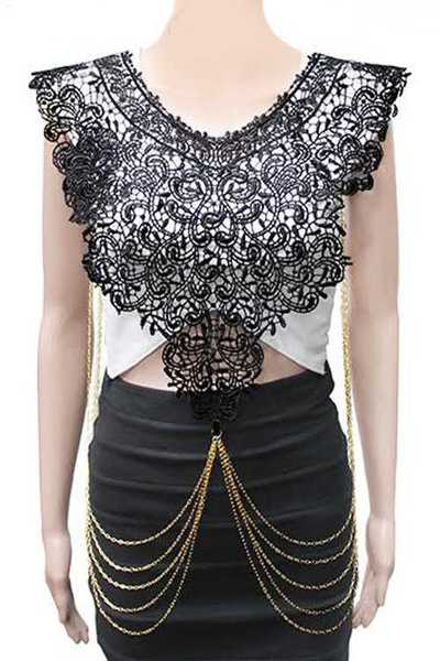 Iconic Lace Top Body Chain