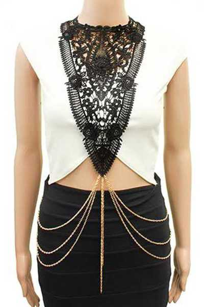 Iocnic Lace Trim Body Chain