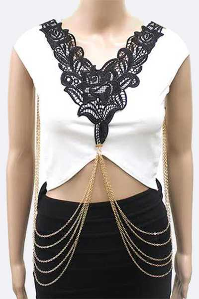 Rose Lace Body Chain