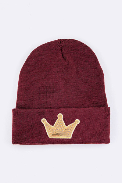 Sequin Crown Iconic Patch Beanie