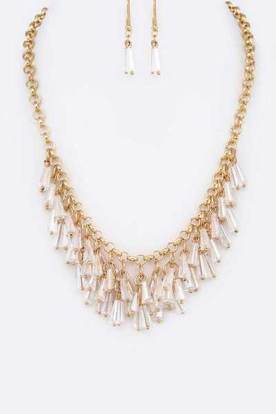 Fringe Beads Collar Necklace Set