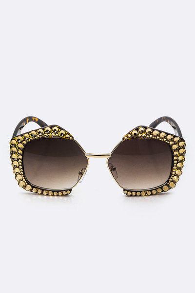 Crystal Ornate Iconic Rim Sunglasses