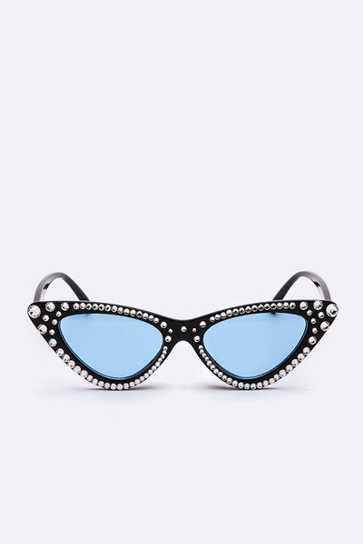 Iconic Colored Austrian Crystal Sunglasses