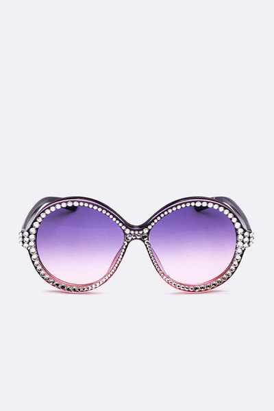 Iconic Purple Ombre Lens Sunglasses