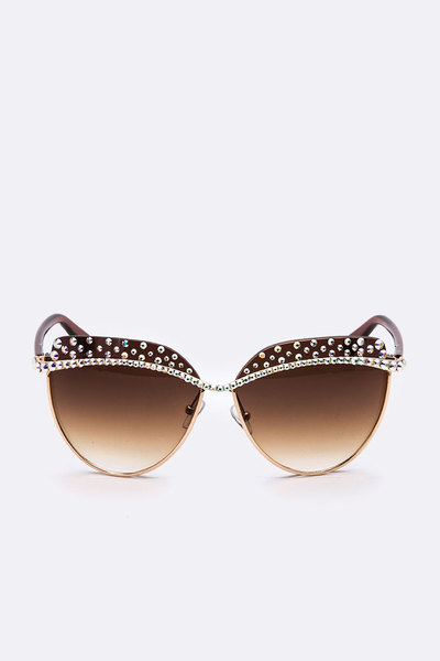 Austrian Crystal Iconic Cat Eye Sunglasses