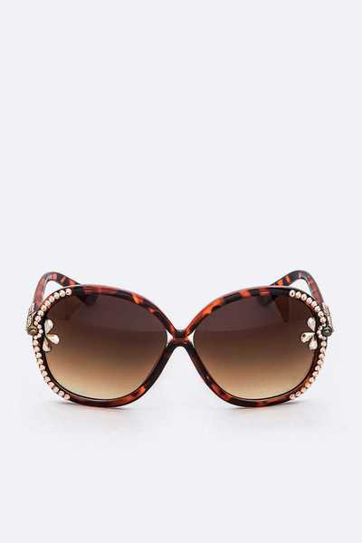 Austrian Crystal Butterfly Sunglasses