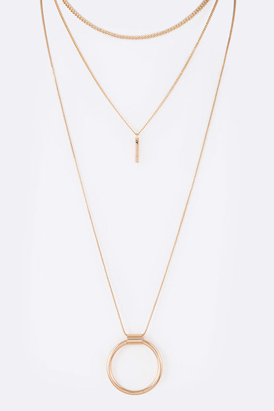 4 In 1 Mix Laye Necklace Set