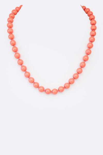 10MM Hand Knotted Single Strand Necklace