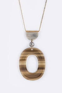 Iconic Celluloid Pendant Necklace