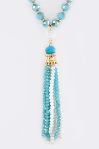Beads Tassel Necklace Set
