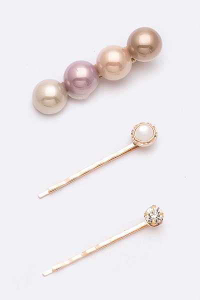 Mix Pearls Pin Set
