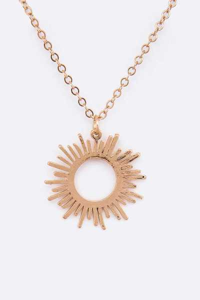 Iconic Sun Burst Pendant Necklace