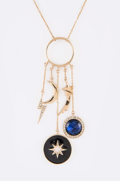 Star & Moon Iconic Pendant Necklace