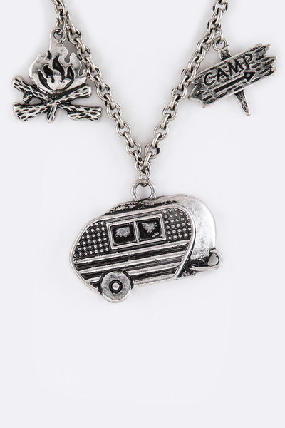 Happy Camper Mix Charms Necklace