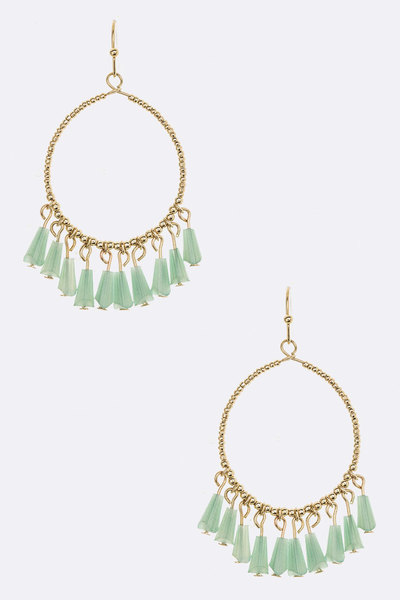 Fringe Beads Iconic Earrings