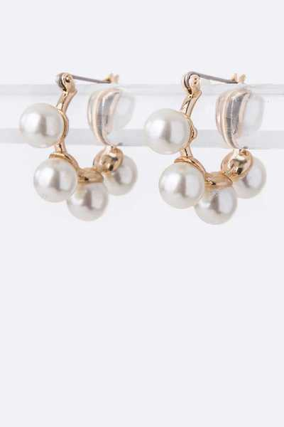 Pearl Studs Petite Hoop Earrings