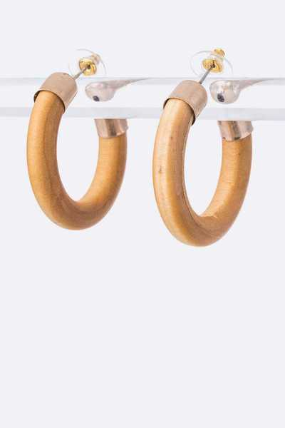 Iconic Wooden Hoop Earrings