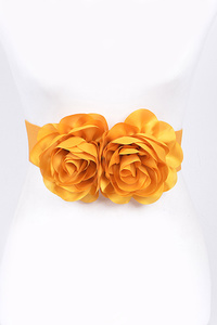 Double Large Flower Stretch Belt