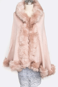 Faux Fur Plushy Cape