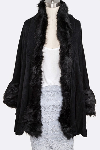 Faux Fur Soft Coat