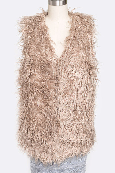Faux Fur Winter Vest