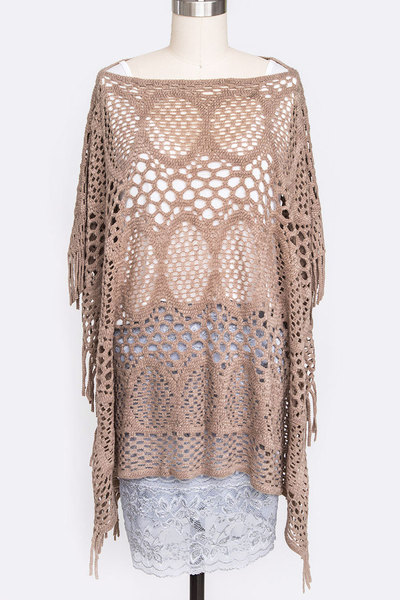 Laser Cut Fashion Poncho