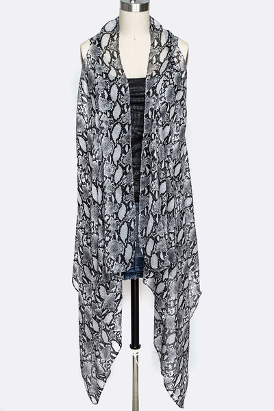 Python Print Viscose Light Weight Vest