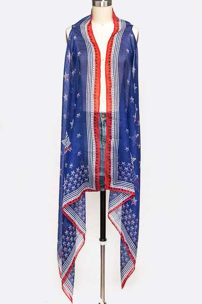 USA Star Printed Summer Vest