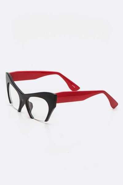 Iconic Cat Eye Frame Clear Glasses
