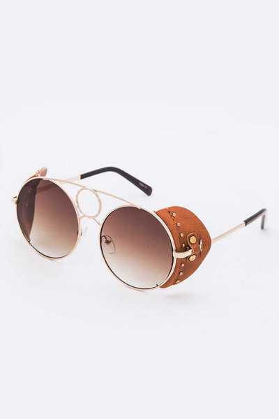 Side Shade Iconic Oversize Round Sunglasses Set