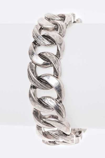 Distressed Chain Link Stretch Bracelet