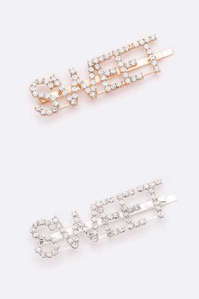 SWEET Rhinestone Hair Clip Set