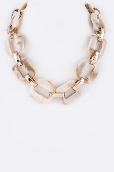 Celluloid Chain Link Iconic Necklace