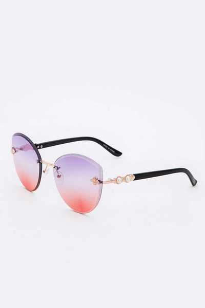 Bee Accent Cat Eye Mix Tint Sunglasses Set