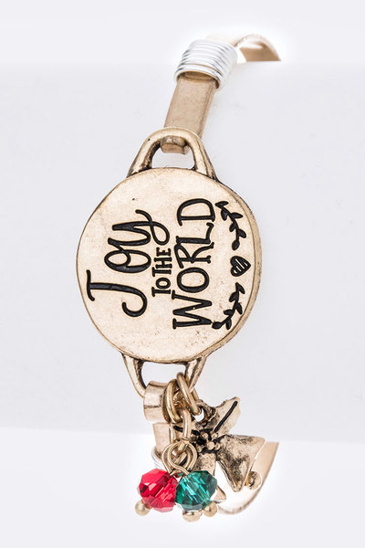 Joy To The World Holiday Bangle