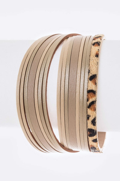 Mix Leather Magnetic Bracelet