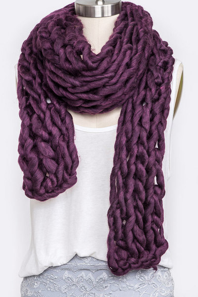 Chunky Knit Extra Long Iconic Winter Scarf