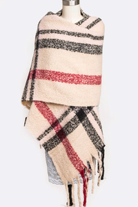 Extra Warm Heavy Weight Large Plaid Scarf