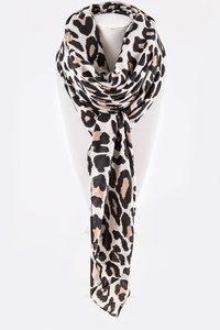 Leopard Printed Iconic Viscose Scarf