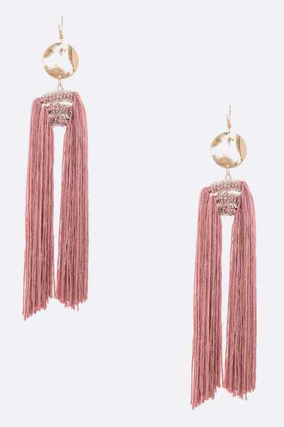 Extra Long Tassel Statement Earrings