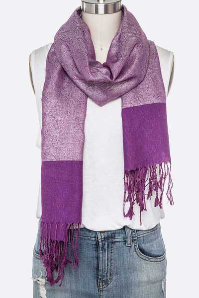 Metallic Pashmina Scarf Set