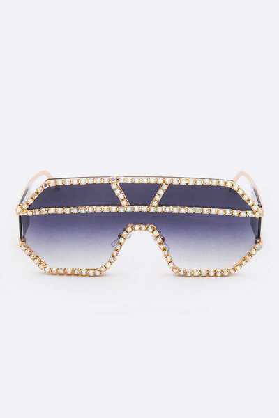 Crystal Pave Iconic Sunglasses